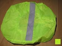 oben: Regenschutz für Rucksäcke Rucksackschutz Ranzen Regenschutz Rucksackcover Regenüberzug Neon Sicherheitsüberzug Reflektorüberzug