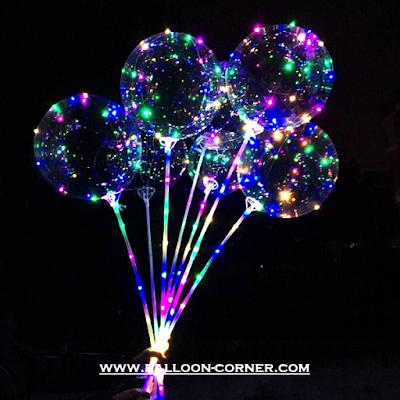 Stik Balon Lampu LED Berkedip