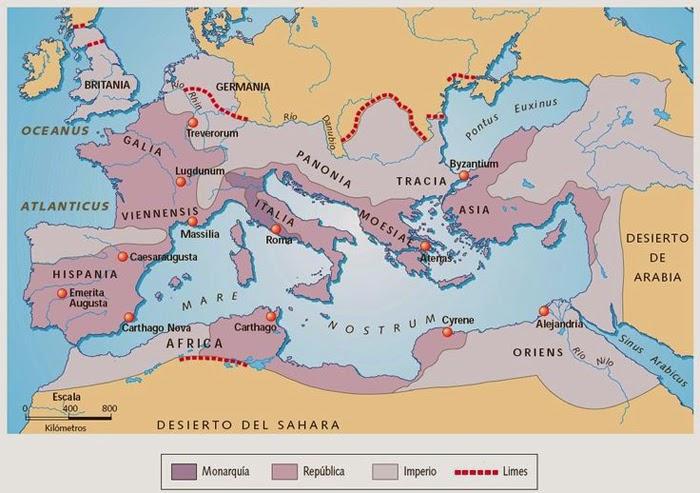 Expansión de Roma: Monarquía, República e Imperio