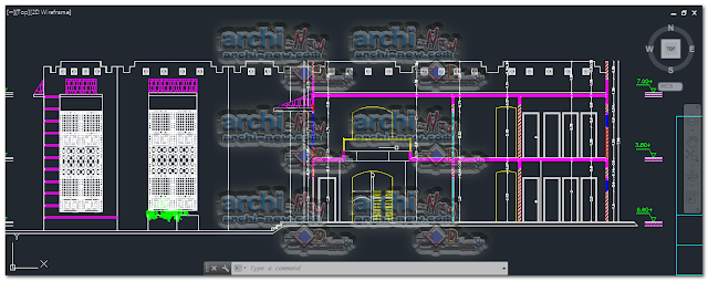 Download-AutoCAD-public-library-bookstore-dwg-cad