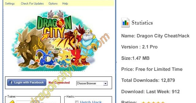 The latest version of dragon city cheat engine hack tool 2013 bot.