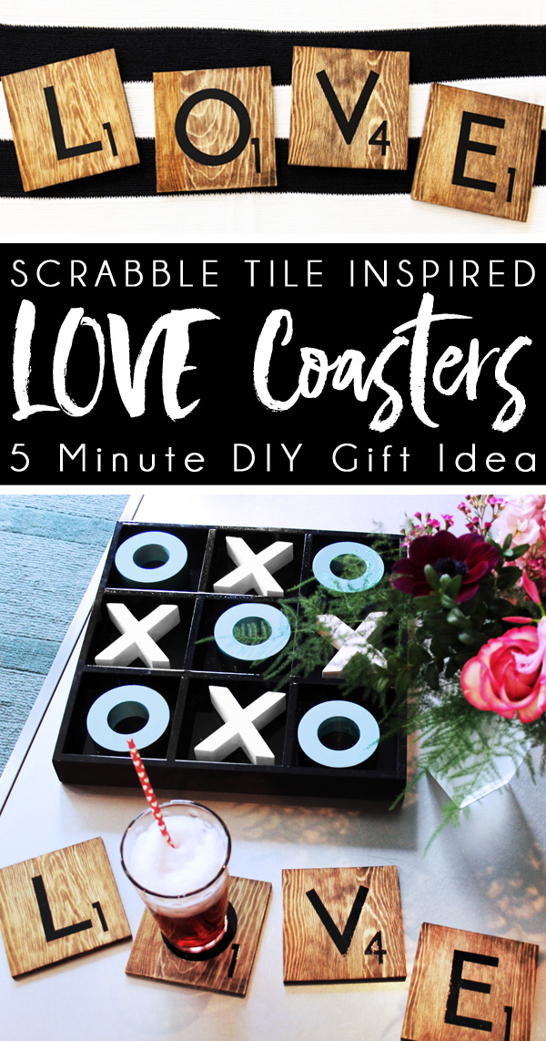 DIY Coasters Valentine gifts for him