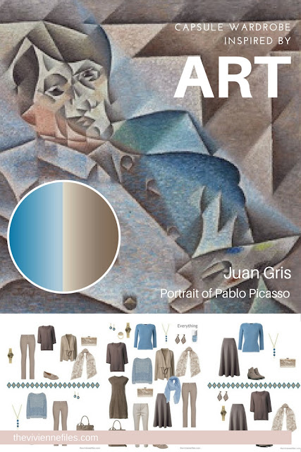 Build a Capsule Wardrobe by Starting with Art: Portrait of Pablo Picasso by Juan Gris