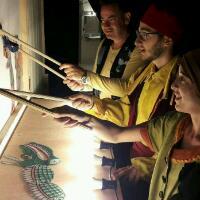Παράσταση καραγκιόζη με ηθοποιούς στο Ναύπλιο