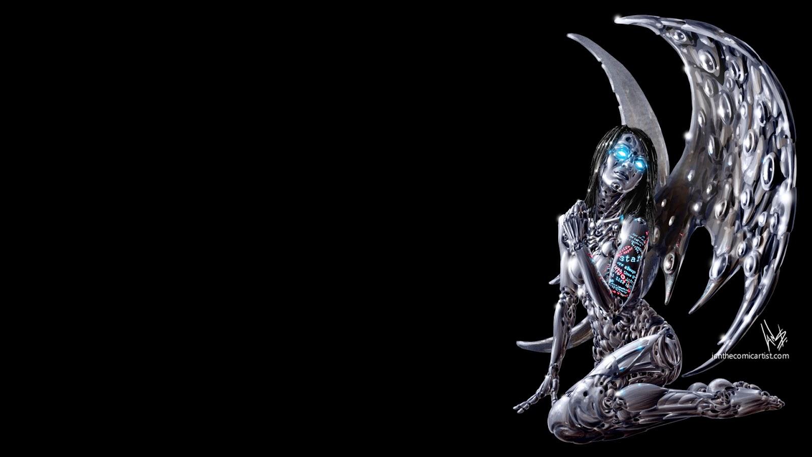 wallpaper cyberpunk metropolis robots - photo #46