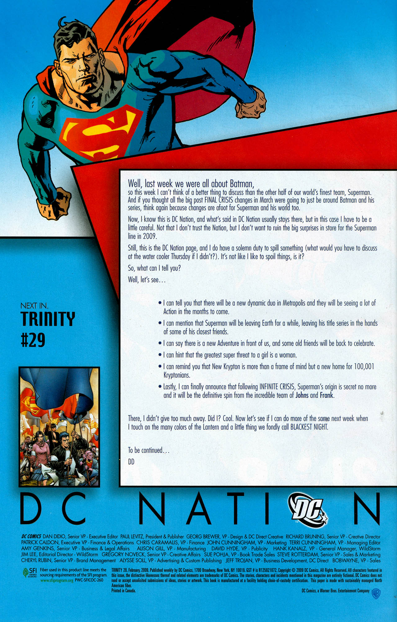 Read online Trinity (2008) comic -  Issue #28 - 36