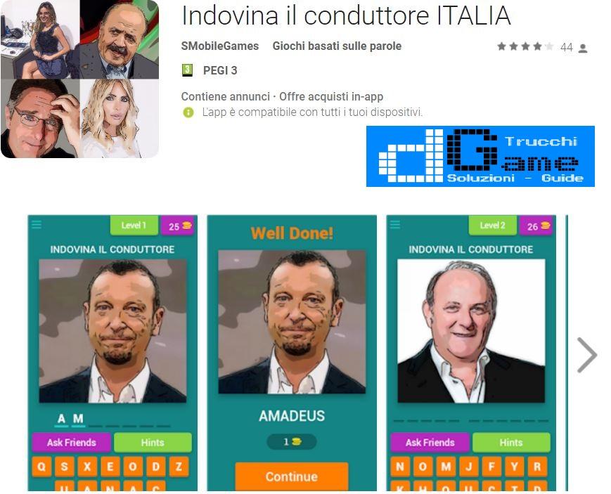 Soluzioni Indovina il conduttore ITALIA | Tutti i livelli risolti con screenshot soluzione