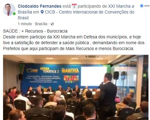 """Nova Tebas: """"Prefeitão"""" mais uma vez em Brasilia!"""