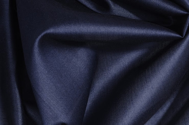 Charcoal Grey Cotton Silk Fabric