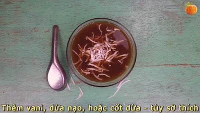Chè đậu đỏ bí ngô