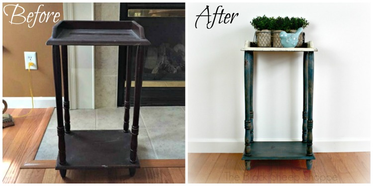 WOW! Before and after: Modern table gets vintage charm!