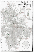 1920 Map of Great Fort Worth