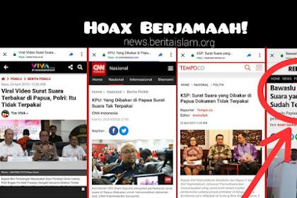 Hoax Berjamaah! Hasil Investigasi Bawaslu Papua Bantah Pernyataan Polri, KPU, KSP terkait Surat Suara Yang Dibakar