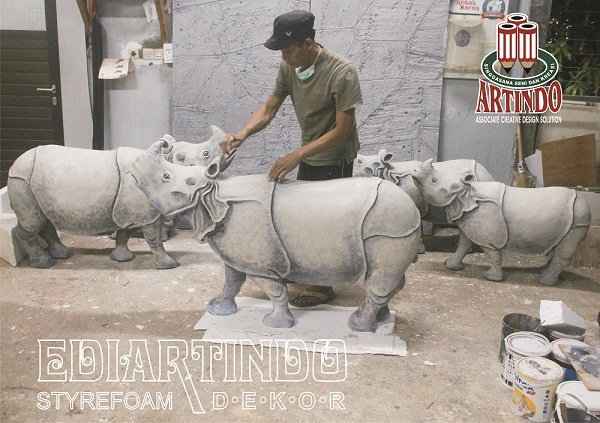 Pembuatan Patung 4 Dimensi Bentuk Binatang