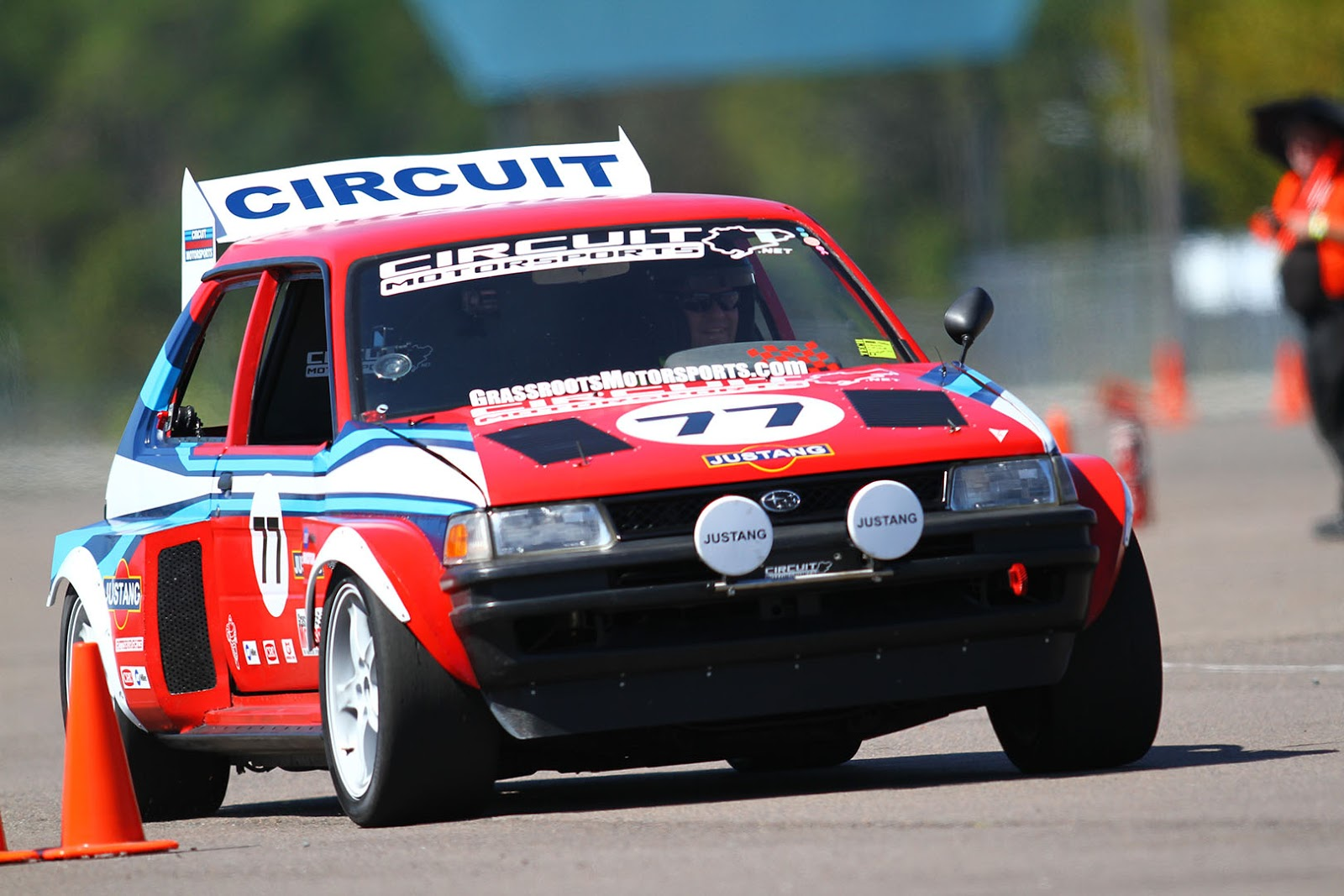 Circuit Motorsports: Flat-Out: V8 Powered Subaru Justy Wins the