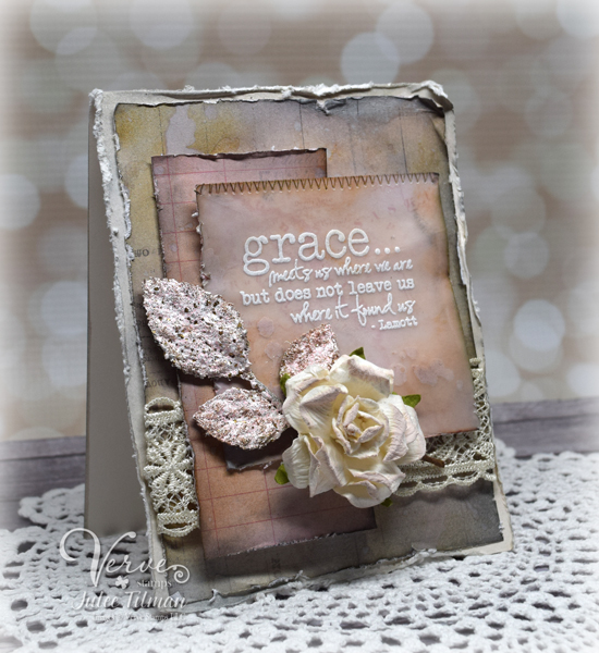 Handmade card by Julee Tilman featuring Verve Stamps. www.poeticartistry.blogspot.com