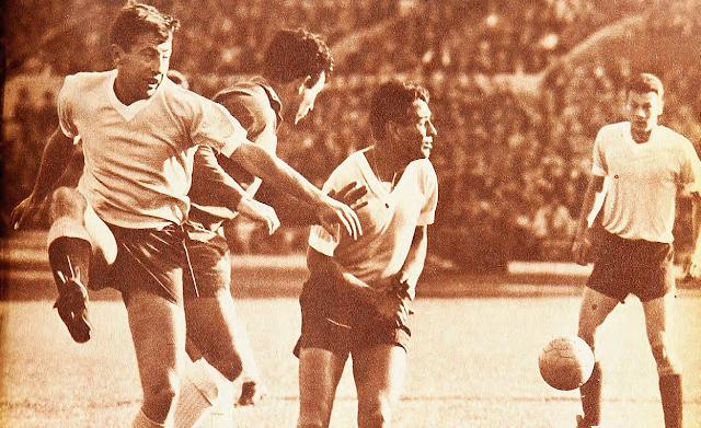 Chile y Uruguay en Copa Juan Pinto Durán 1965, partido de ida