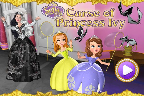 Play the Curse of Princess Ivy game by helping Sofia The First, Amber and Cedric to save the castle from Ivy`s black and white butterflies!