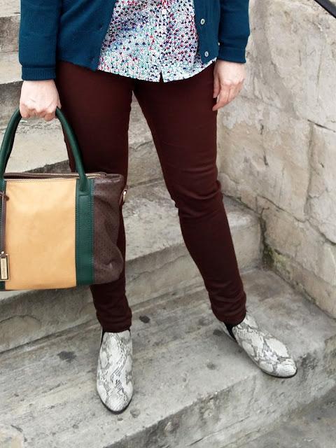 Dorothy Perkins Petite Skinny Jeans, Marks&Spencer Snakeskin Boots | Petite Silver Vixen