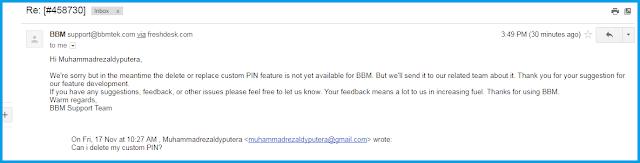 Bisakah PIN Custom BlackBerry Messenger  Bisakah PIN Custom BBM Dihapus / Dimengganti?