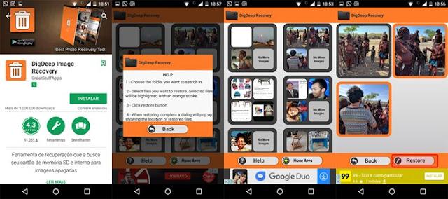 Recuperação de imagem DigDeep