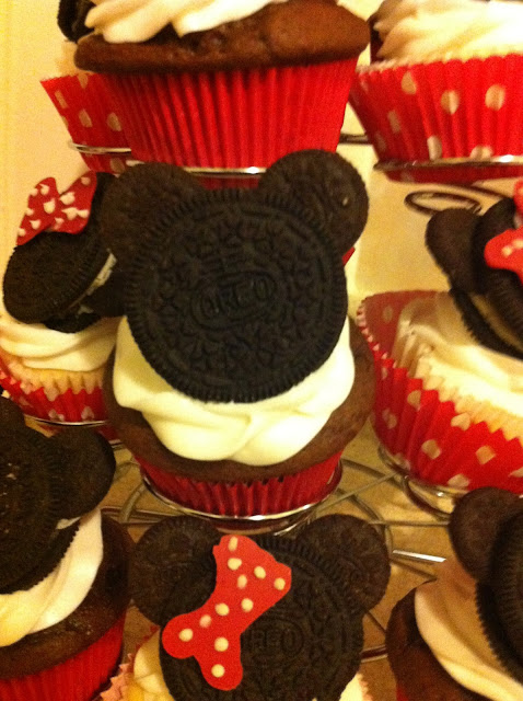 Oreo Mickey Mouse Cupcake