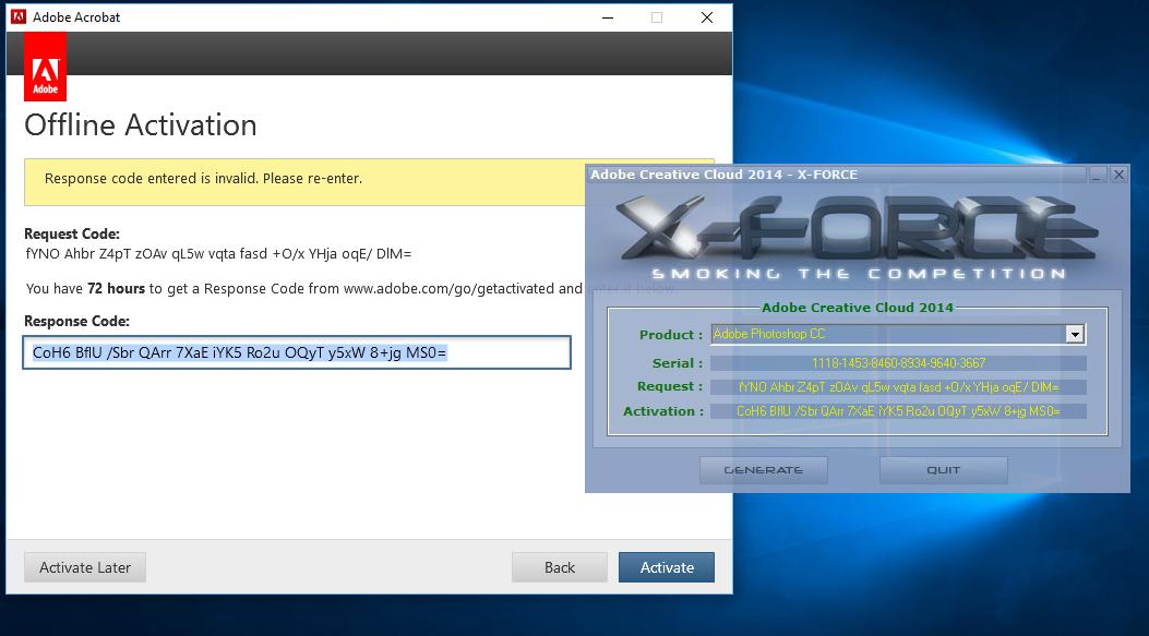 Offline Activation Adobe