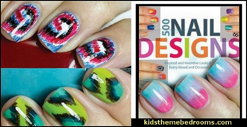 nail art design ideas-nail designs  tie-dye nails - gradient nails