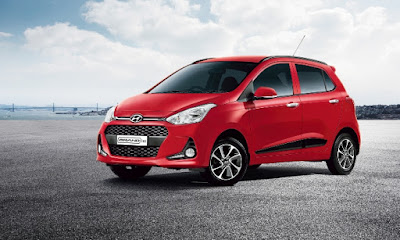 New 2017 Hyundai Grand i10 Facelift Red Wallpaper