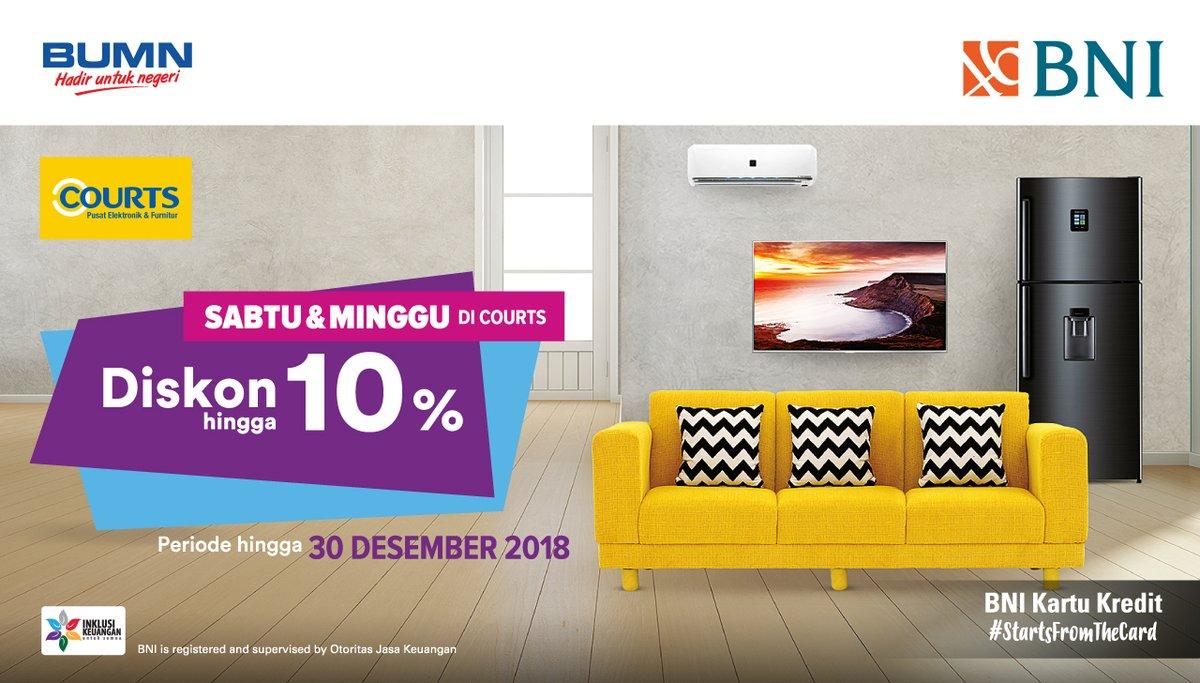 Bank Mandiri - Promo Diskon s.d 10% Hari Sabtu & Minggu di Courts (s.d 30 Des 2018)