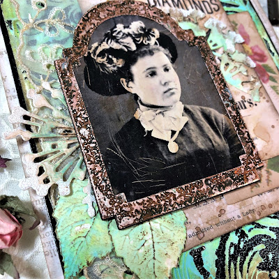 Frilly and Funkie https://frillyandfunkie.blogspot.com/2019/04/saturday-showcase-seth-apters-baked.html Spring Card Tutorial with Tim Holtz 3D Embossing Seth Apter Baked Velvet by Sara Emily Barker 13