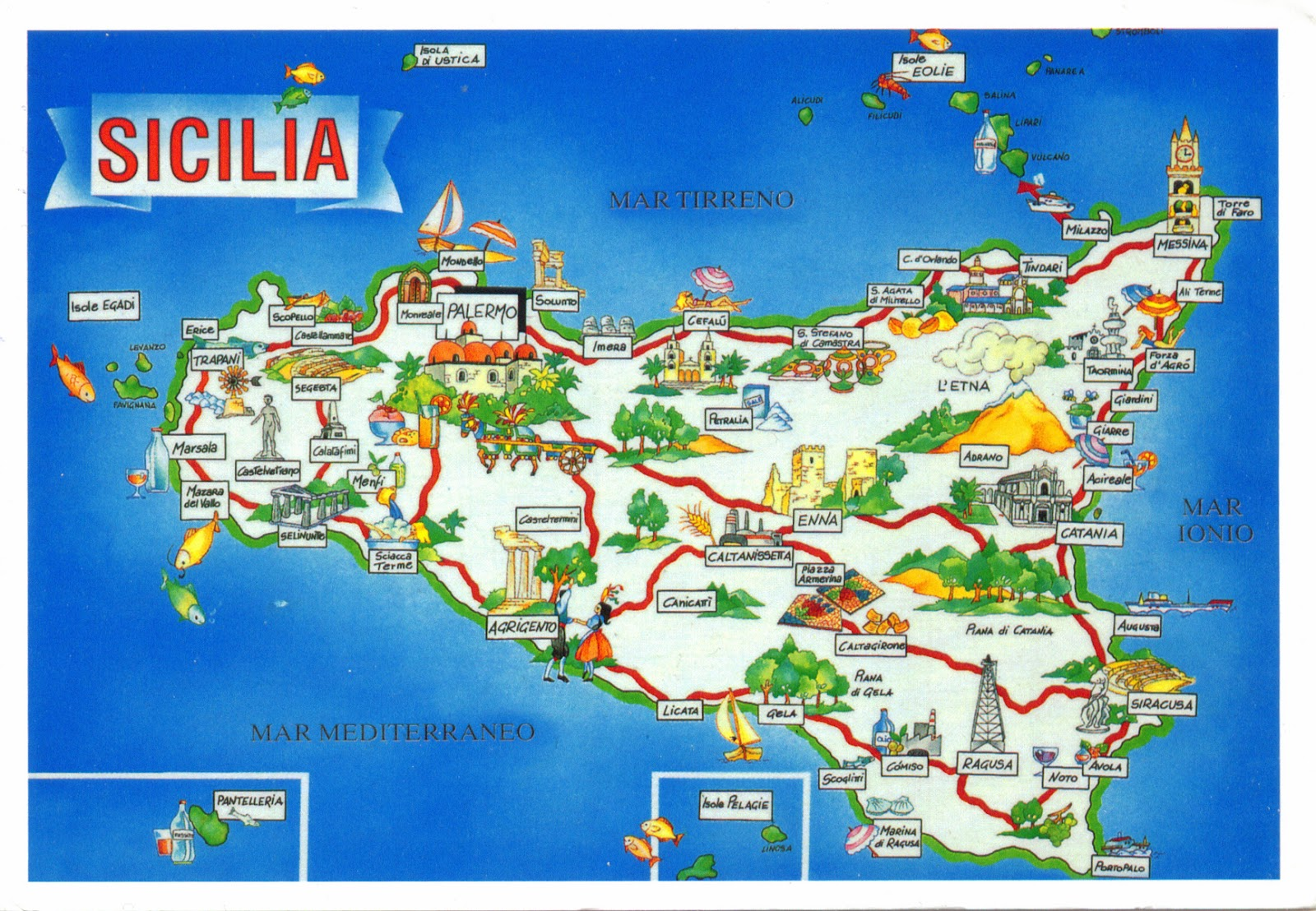 Sicily On Map Of Italy.World Come To My Home 0963 0964 1907 2931 2981 Italy Sicily
