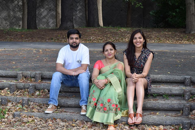 Sonal Chouhan with Mother and brother