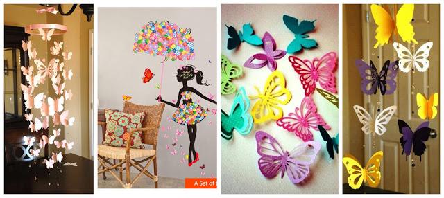 mariposas-papel-decoración