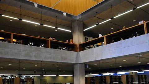Nueva iluminación en la Biblioteca General María Moliner.