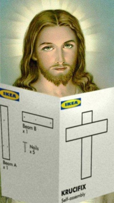 Jesus IKEA Krucifix picture