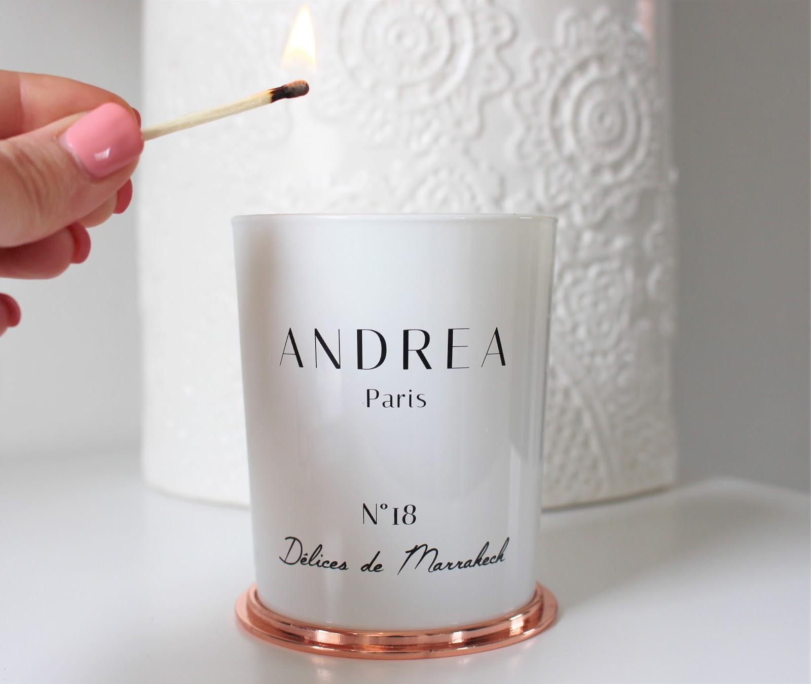 les bougies andrea paris le raffinement la fran aise karenoutichat. Black Bedroom Furniture Sets. Home Design Ideas