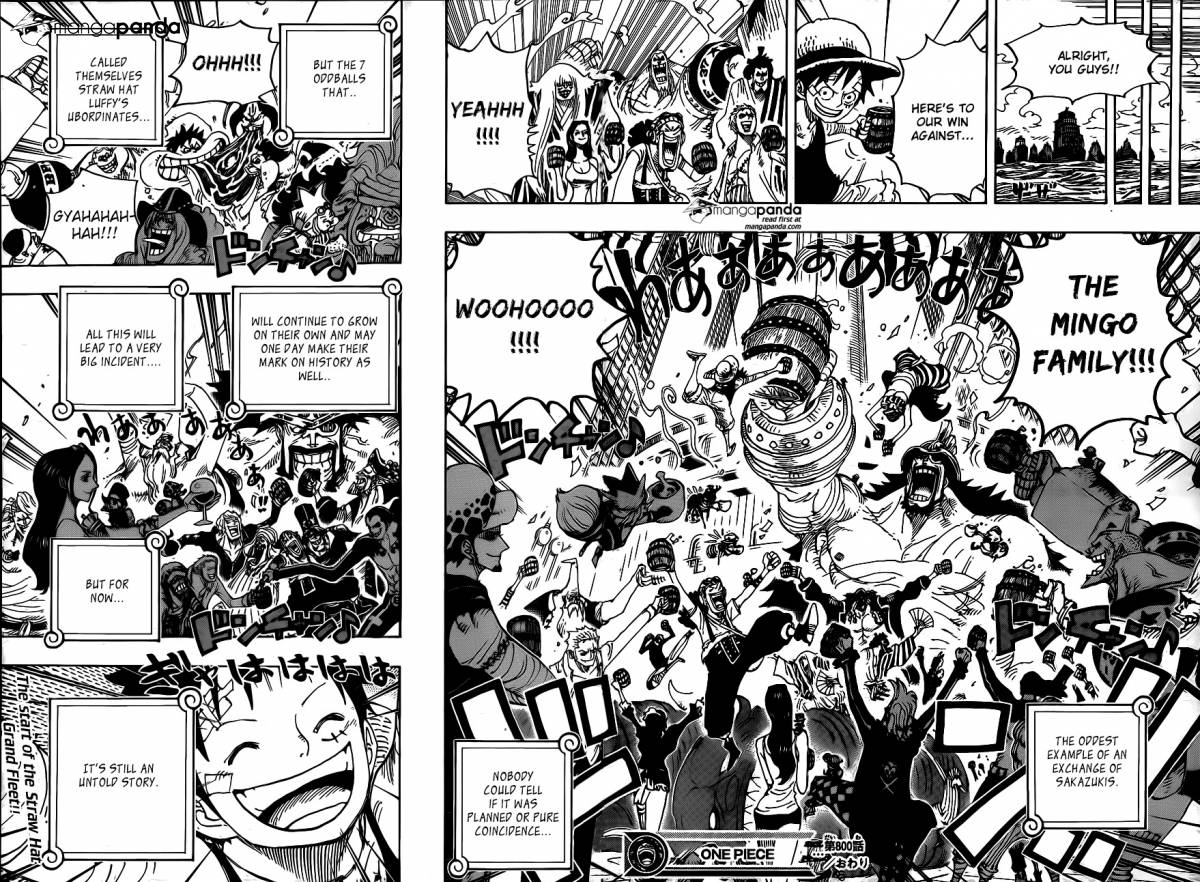 One Piece Ch 800: Exchanging Sakazukis