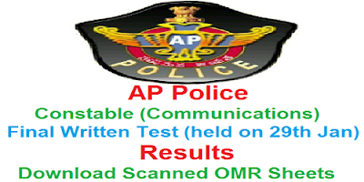 AP Police Constable (Communications) FWE Results 2017