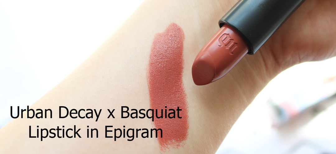 Urban Decay x Jean-Michel Basquiat Lipstick in Epigram swatches