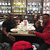 Footballer Odion Ighalo in a cute dinner photo with his family