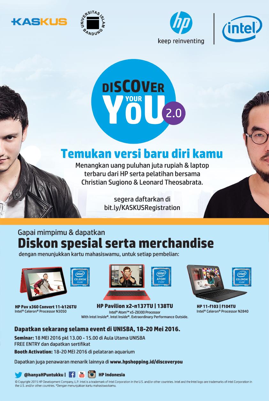 """... dengan Kaskus akan menyelenggarakan Kaskus Goes To Campus with HP    Intel """"Discover Your You 2.0"""" pada Rabu b2b00678e4"""