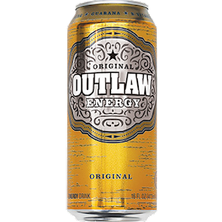 A stock image of Outlaw Energy Original Energy Drink, from Big Lots