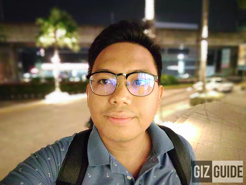 Lowlight selfie bokeh