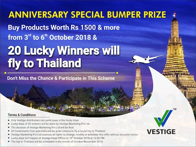Vestige Anniversary Special Offer / Scheme 2018