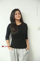 Telugu Actress Mishti Chakraborty Latest Pos in Black Top at Smile Pictures Production No 1 Movie Opening  0005.JPG