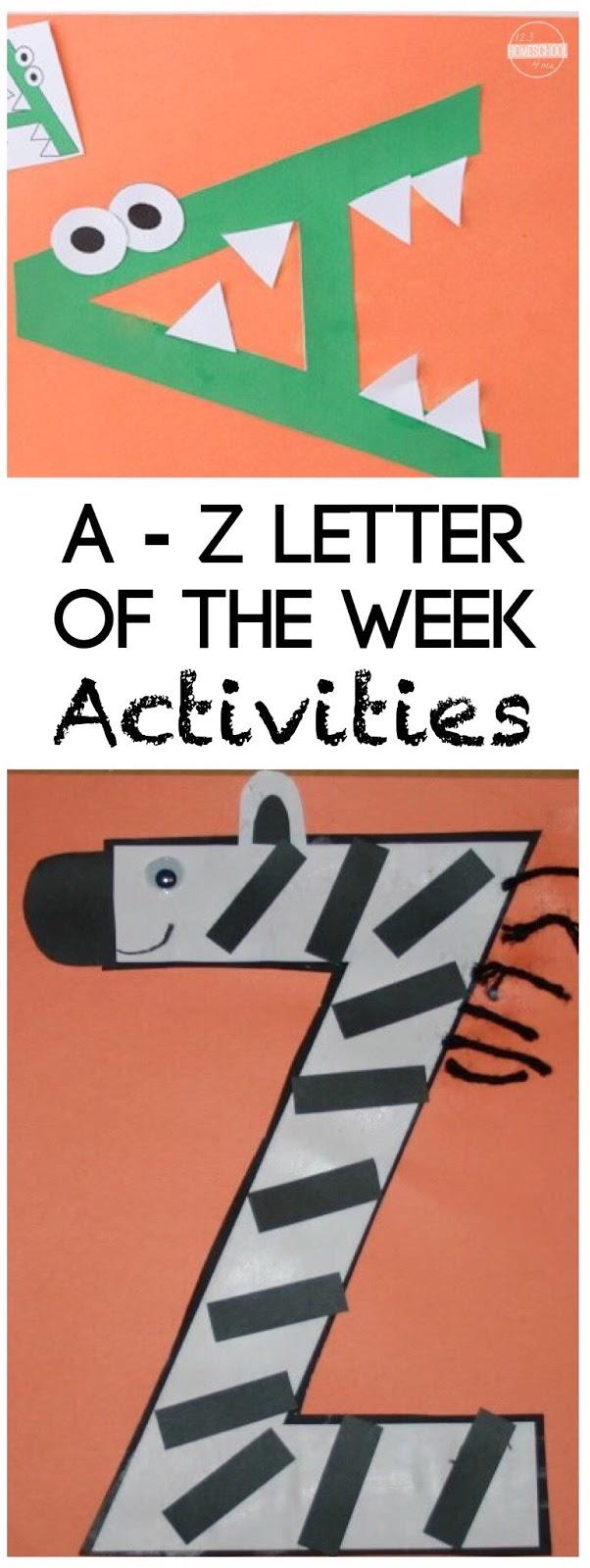 26 alphabet crafts