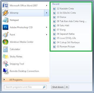 2 Cara Menghapus Recent Items Pada Windows 7