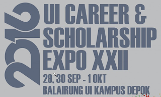 Job Fair UI Career & Scholarship Expo XXII 29 - 1 Oktober 2016