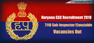 Haryana SSC jobs for Constable/ Sub-Inspector